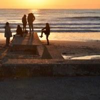 材木座海岸の夕焼け