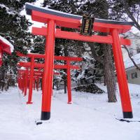 冬風景「初詣の穴場 札幌伏見稲荷神社」