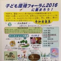 「子ども環境フォーラム2016」が開催されました