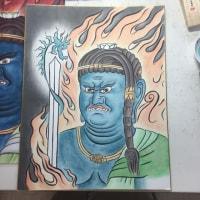 仏画も描きたくて:教室12回目