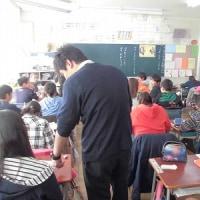 今日は、1年生と6年生の授業参観と保護者会でした。