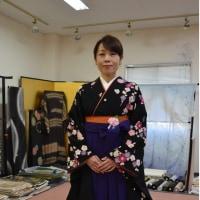卒業式シーズンです。袴のお着付しました①