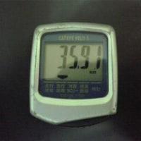 今日の走行距離 35.91km(往復)