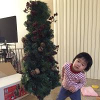 クリスマスらしく、クリスマスツリー