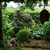 和のバラ庭をより素敵にと リサイクルDIY