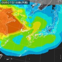 韓国 微細粒子にまみれてます。