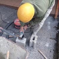 岡山市内のマンションで花壇ブロック修復工事