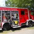 小学校のサマーフェストで、消防車が来ていました!