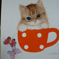 とよこの絵今このカップを描きたくて色々描いてます、子のにゃんこも可愛いでしょう