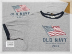 OLD NAVYの Flag Tees!