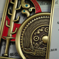 奈良マラソンの完走メダル