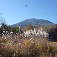 浅間山に雪が・・・・・