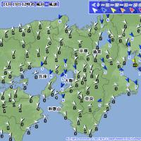 1月19日 アメダスと天気図。