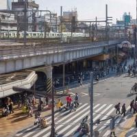 2017.02.01 上野駅前交叉点: 外国人観光客がたくさん!