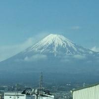 素敵な富士山が見えました。行くときは見えなかったのでとても嬉しいです。