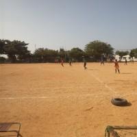 那覇ガールズと中学女子のトレーニングマッチ