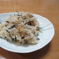 厚揚げの挽肉サンド☆ひじきご飯