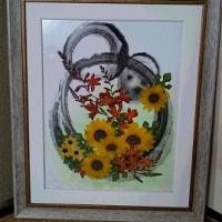墨と押し花