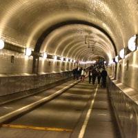 エルベトンネル内を歩く