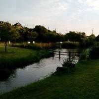 打上川治水緑地の夕景