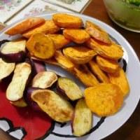 オレンジ色のサツマイモ