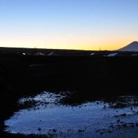 富士見町大規模水田より富士を望む 2013