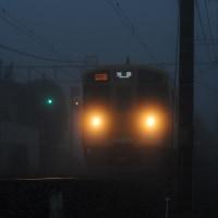 朝、濃霧です・・・☆