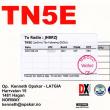 近着QSL TN5E コンゴ共和国 28MHz/CW