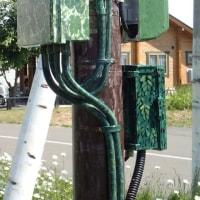 電柱の塗装