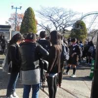 市内の高校生団体が来園