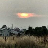 今日の夕陽は目玉焼きみたい!