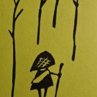 木版画 「夢を信じて」