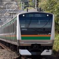 E233系とE231系(根府川駅にて3月17日撮影)
