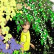 枝先の花々