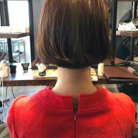 【お客様スナップ レトロなワンレンボブ】札幌美容室ショートスタイル美容師ブログmeikaたかはし
