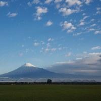 11/22 雨上がりのグラウンドで逆さ富士