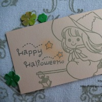 koyagiオリジナルクリアスタンプセット・ハロウィン・空飛ぶ魔女っ娘2