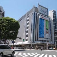 5月の渋谷駅:文化村通りと渋谷109、スクランブル交差点