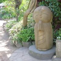 晴れやかに、和み地蔵…長谷寺にて