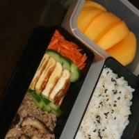 10月8日  椎茸と豚肉の甘辛炒め 玄米ごはん弁当