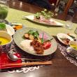 キーマカレーとサラダプレートの夕ご飯