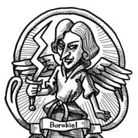 「ペン画」天使バラキエル(神話イラスト)