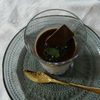 黒ごまプリン~黒蜜添え