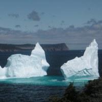 氷山を見る!