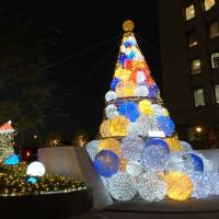 ペニンシュラホテルのクリスマス・イルミネーション。