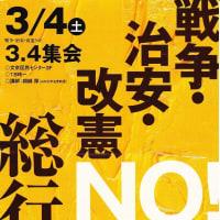 3月4、13日連続集会・デモ