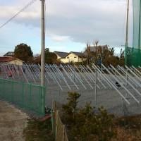 太陽光発電システム工事-架台組み立て