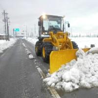 除雪作業中です。