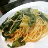 アンチョビ のらぼう菜 春キャベツのスパゲティ(塩味)