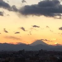 シルエット富士